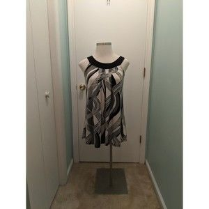 Forever Brand Tunic/Dress/Cover Up Geo Pattern